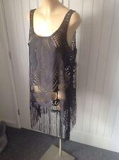 NEW LOOK Ladies Black Lace Tunic Dress Top Sz M UK 12/14 Beach