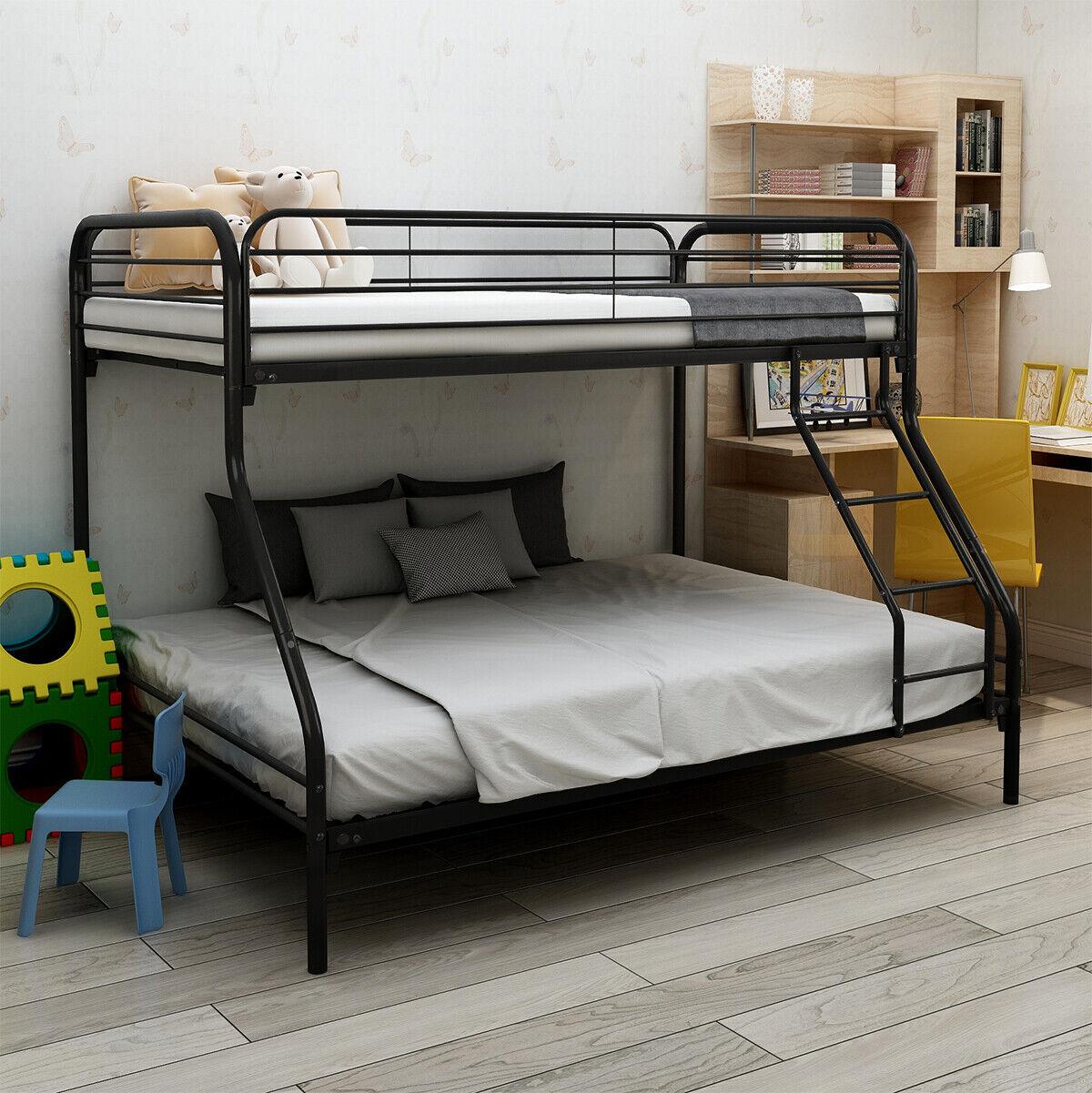 Bunk Beds Full Over Full Size Kids Girls Boys Adults Bedroom Furniture Bed Black For Sale Online Ebay