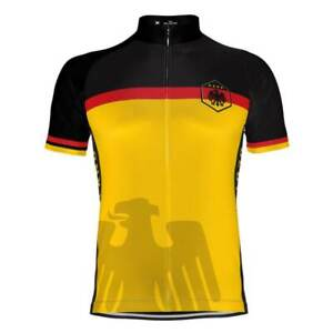 """Team Germany /""""Ride Light /& Strong/"""" Men/'s Cycling Jersey"""