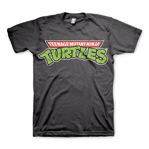 18ffbea2 Details about Official Teenage Mutant Ninja Turtles Classic Logo Mens Grey Retro  T-Shirt Tee