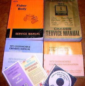 Image Is Loading 1973 Oldsmobile Service Manuals Amp Parts 442 Hurst