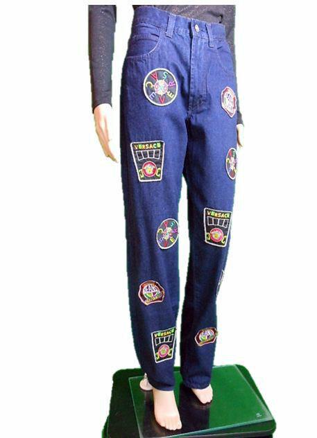 VERSACE Woman New Fashion Mum Vtg Design Medusa Collectors Jeans sz 32 IT46 AN92