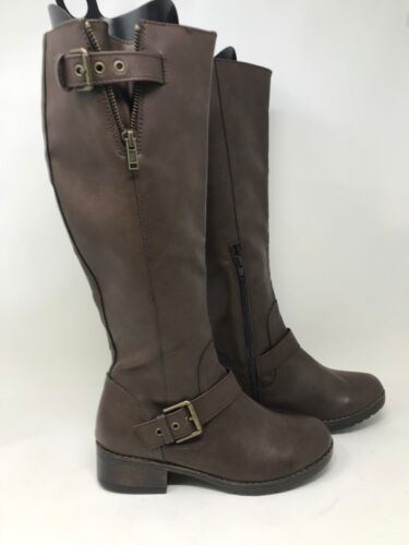 Women/'s S.O Brown V18 New W//Defect 66551 Ski Tall Riding Boots