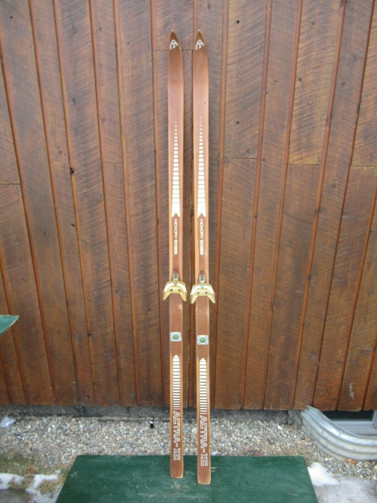 GREAT OLD Set 73  Long Skis with Old BROWN Finish