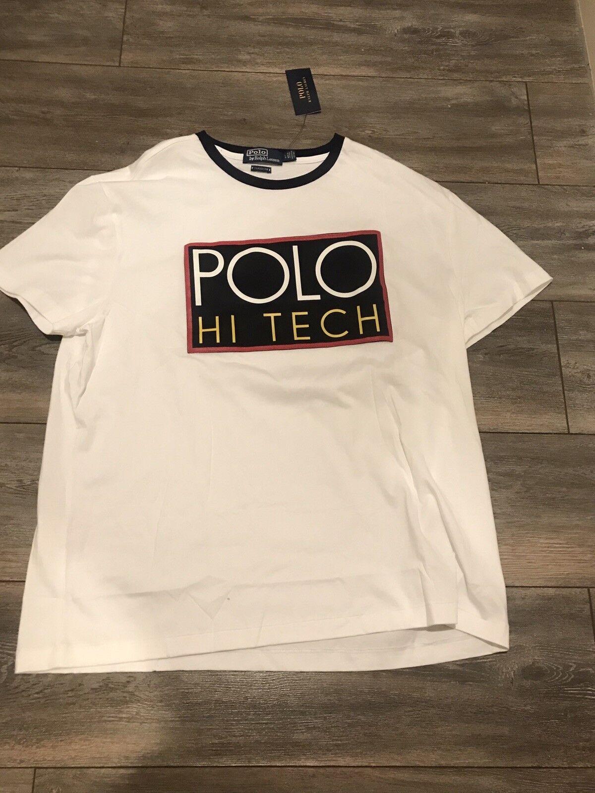 Brand New Ralph Lauren Polo Hi Tech White T Shirt Size L