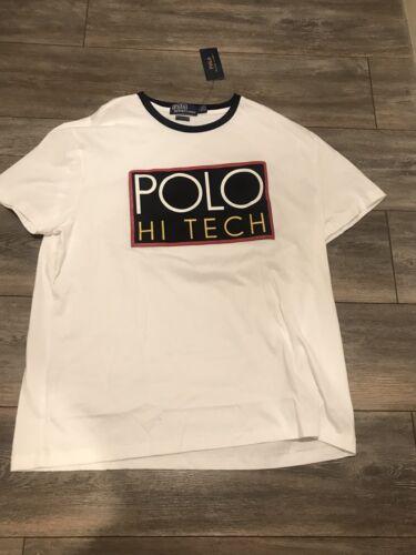 White Hi Brand Shirt New Polo Lauren Size Ralph T L Tech 8p1Iq1Yw