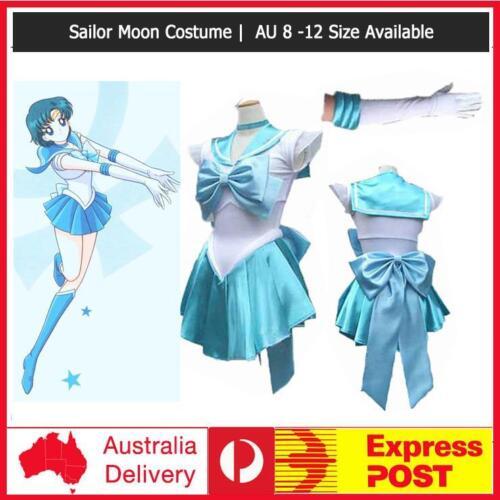 Gloves Light Blue Sailor Moon Costume Cosplay Uniform Fancy Dress Up Hens Party