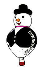 "BALLON ""SPECIAL SHAPE"" Pin / Pins - SCHNEEMANN / OO-SNOWMAN [3558]"