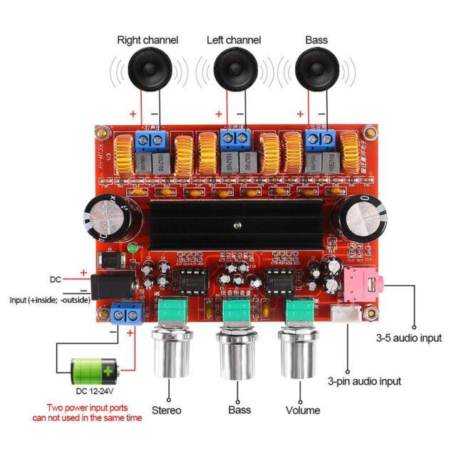 US TDA7498 2.1 Digital Power Amplifier Board 200W+100W+100W