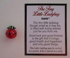 h TINY LITTLE LADYBUG glass figurine loving wish good luck miniature ganz