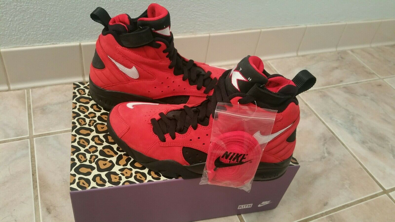 97c398fd9e KITH Nike Air II QS Red Black Size 7.5 Maestro University nxlqaw2474 ...