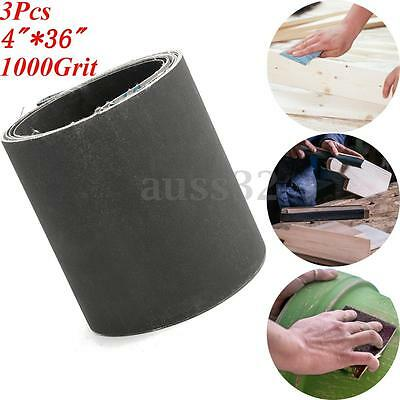 4 x 36'' 3 Pack 1000 Grit Silicon Carbide Sanding Belts Metal Working Sharpening