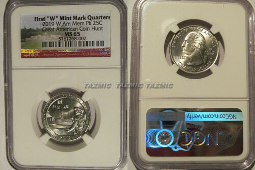 2019 W American Memorial Park NP Quarter 25c NGC MS 65 West Point Coin Hunt