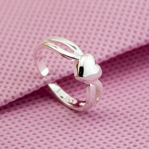 Wholesale 925 Sterling Silver Plated Women Fashion jewelry Rings SIZE OPEN #7