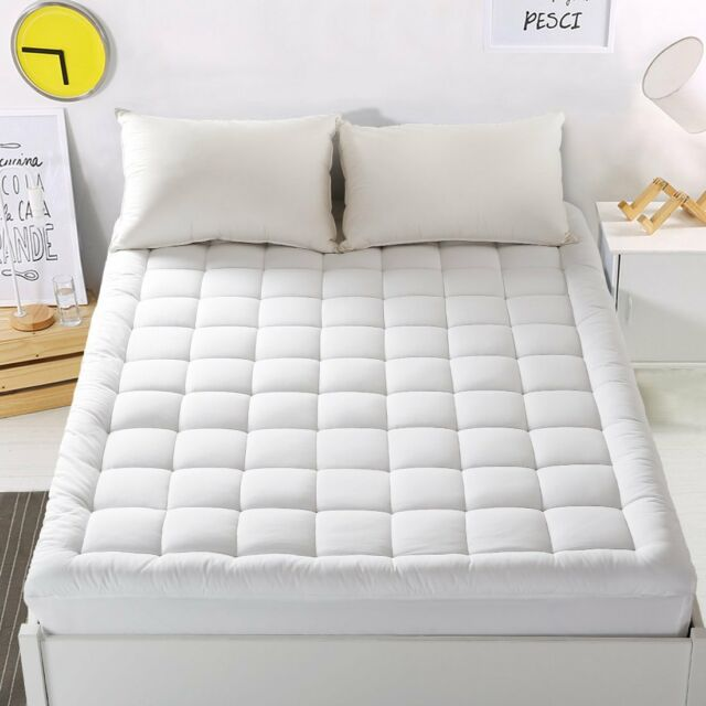 Lakebirds King Size Mattress Pad Cover 800 Gsm 100 Cotton 300tc