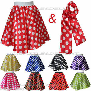 ROCK-AND-ROLL-SKIRT-POLKA-DOT-DRESS-50-039-S-FANCY-DRESS-JIVE-ROCK-N-ROLL-GREASE