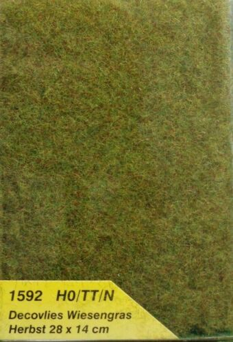28 x 14 cm NEUF Heki 1592 Decovlies Wiesengras 221,68 €//m² automne