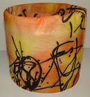 Orange Black Scribble Tubular Multi Function Headwear Scarf Balaclava Beanie Cap