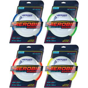 Aerobie Superdisc Wurfscheibe Wurfring Wurfspiel Frisbee mit Gummirand 4 Farben