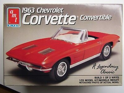 Amt 1:25 Scale 1963 Chevrolet Corvette Convertible Model Kit Kit # 6774 Buy One Get One Free New