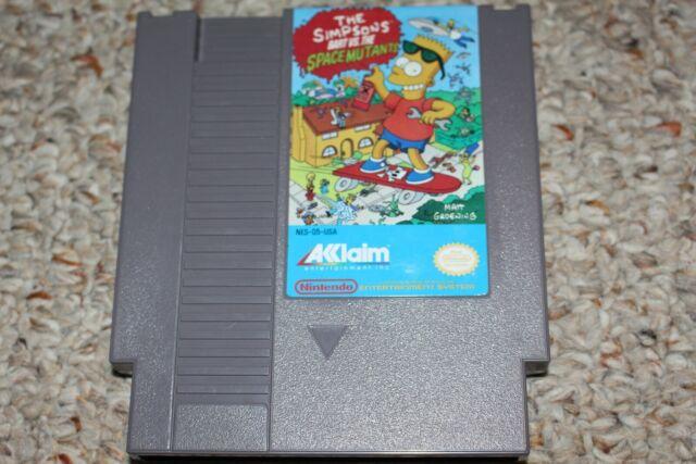 Simpsons Bart Vs Space Mutants (Nintendo Entertainment System NES) Cart Only