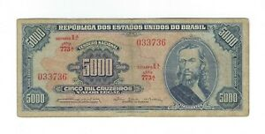 5000-Cruzeiros-Bresil-1964-c058-p-174b-Brazil-billet