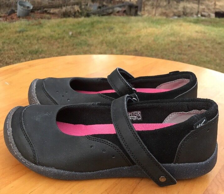 Keen fille Tris MJ noir Cuir Mary Jane chaussures Taille 5 M US