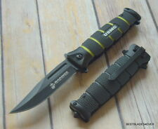 UNITED CUTLERY OFFICIALLY LICENSED USMC SPRING ASSISTED KNIFE WITH POCKET CLIP