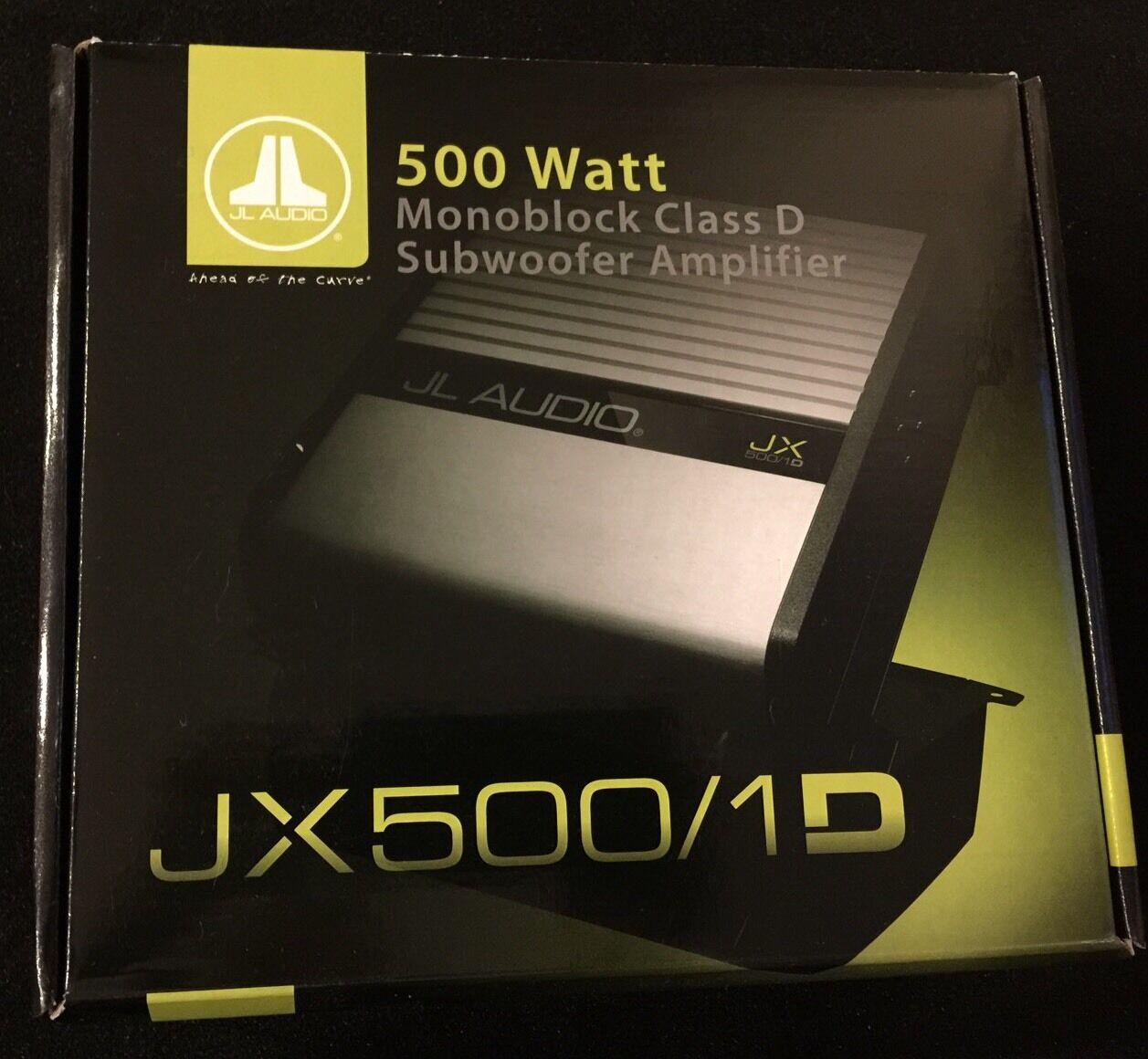 Jl Audio Jx500 1d Car Amp Ebay Bullz Spak4bl 4 Gauge Amplifier Wiring Kit