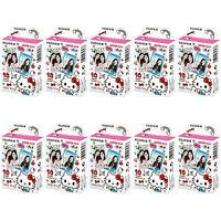 10 Packs 100 Photos Hello Kitty 2016 Fujifilm Fuji Instax Mini Film Polaroid 7s