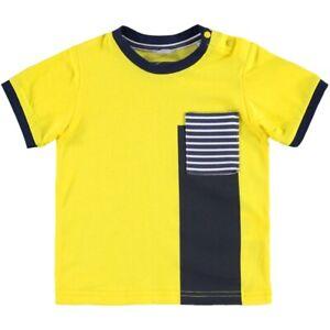T-shirt-In-Cotone-Gialla-Bambino-Sarabanda-W521G