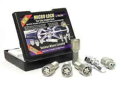 Affusolato Sedile Tuner SLIM Testa Micro Bloccaggio Ruota Bullone Set M12x1.25 41mm di lunghezza