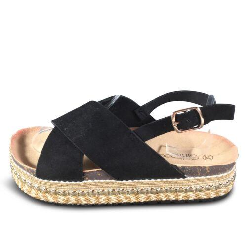 Femmes Sandales Nouveau Plateforme Wedge Bride Sandales Été Chaussures st58