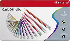Premium Colouring Pencil STABILO CarbOthello Pastel Pencil Metal Box of 36