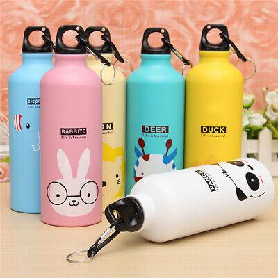 500ml Lovely Cartoon Animal Aluminum Portable Outdoor Sport Running Water Bo HK