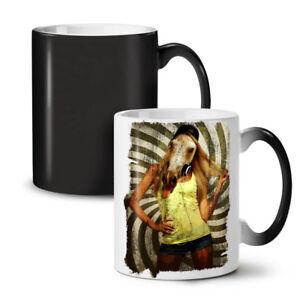 Girl Beast Wild Animal NEW Colour Changing Tea Coffee Mug 11 oz | Wellcoda