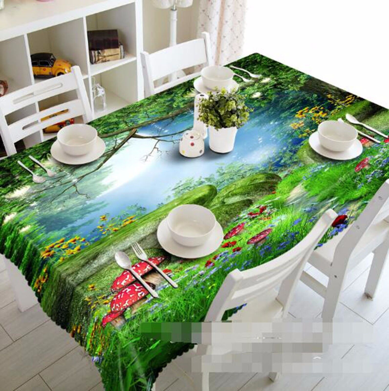 3D Meadow 408 Tablecloth Table Cover Cloth Birthday Party AJ WALLPAPER UK Lemon