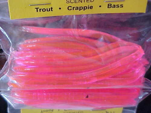 """Steelhead Perch Scented Worms Color #37 Crappie Bass Lucky Lady 3/"""" Trout"""