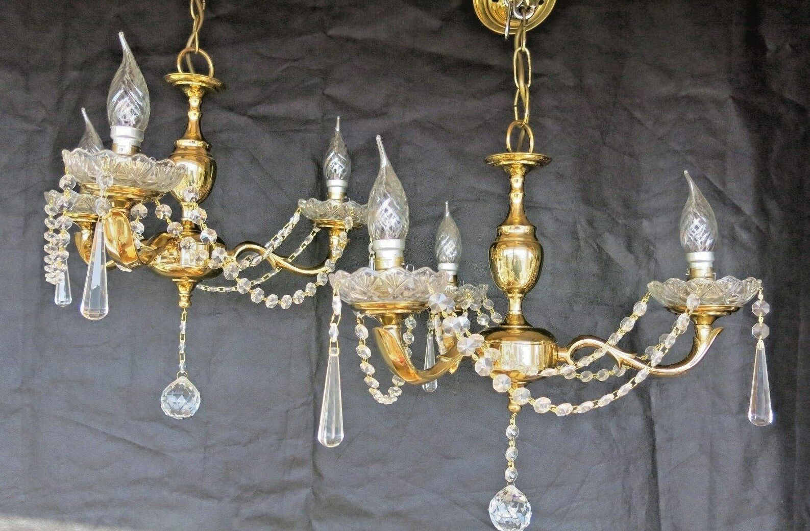 Sporting Lampadario In Ottone E Porcellana Dipinta A Mano Lamps Decorative Arts