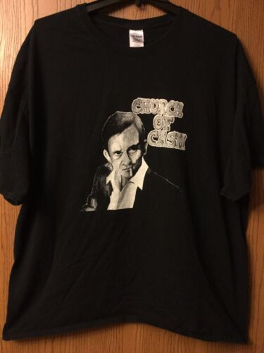 "Johnny Cash - ""Church Of Cash"". Black Shirt.  3XL."