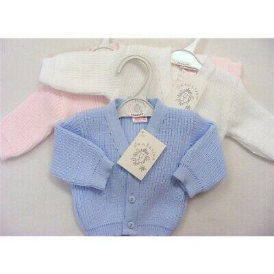 Baby Girls Knitted Bolero Cardigan by Dandelion Newborn, White