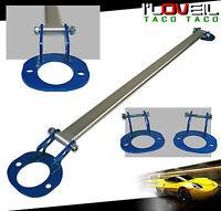 96 97 98 99 00 Honda Civic Si Rear Upper Silver Strut Wide Bar Blue Brackets on Sale
