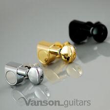 6 x New VANSON Vintage Locking Tuners, Machine heads, for Strat, Tele ®* V05-LK