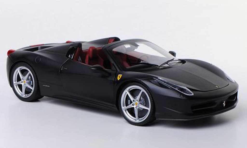 Hot Wheels Elite Ferrari 458 Italia Araña Mate black 1 18 X5485