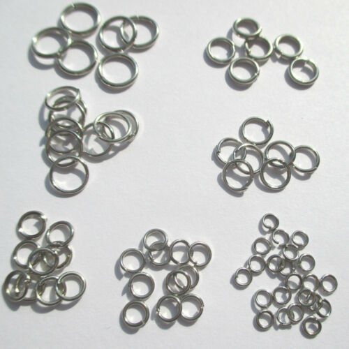 ojales abierta 200 anillos biegeringe, conexión anillos 3 mm ad color plata