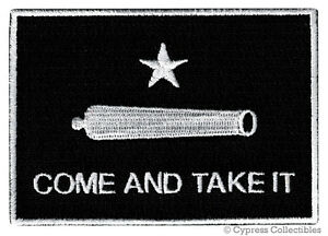 212ff59ad COME AND TAKE IT BLACK FLAG PATCH TEXAS REVOLUTION IRON-ON ...