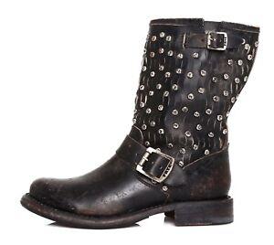8c9cf1d348ed FRYE Jenna Cut Stud Short Moto Leather Boot Black Women Sz 5.5 B ...