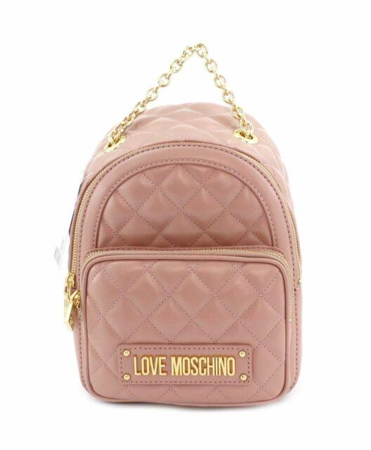 Dettagli su Zaino mini Love Moschino rosa trapuntato JC4006 Collezione estiva 2020