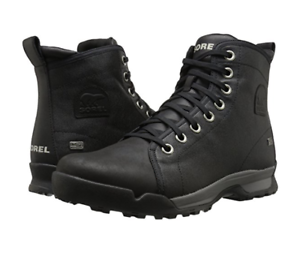 3c82778f535 Details about New in Box Sorel Mens Paxson 64 Outdry Snow Boots Waterproof  Black Size 7