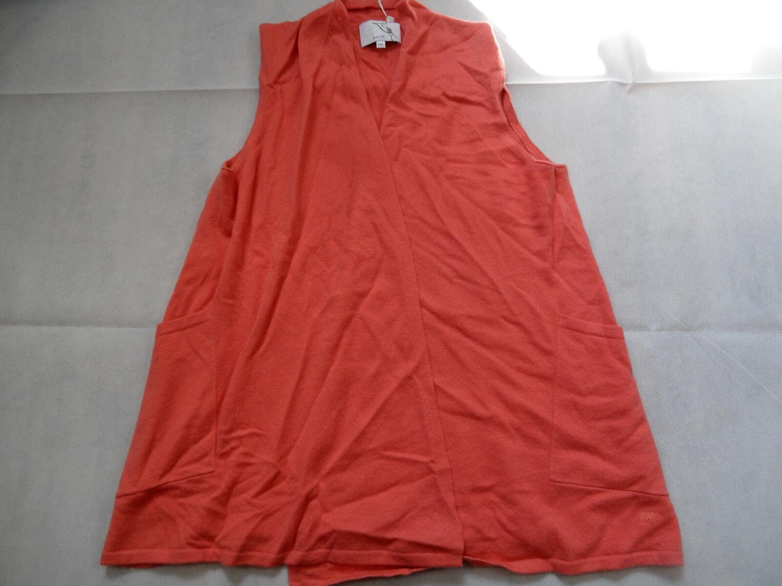 bianca T bella di alta qualità Kashmir Gilet arancia 2 fädig TG. XXL nuovo bi618
